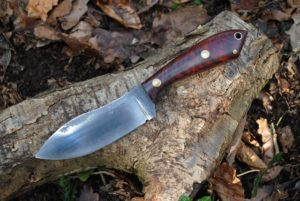 Nessmuk Knife in Forged 52100 Steel and Cocoolo Handle.