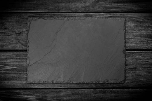 slate board on black wood